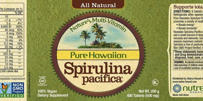 comprar spirulina hawaian pure